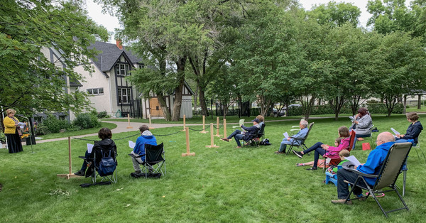Families Return to Messy Church and Vespers in Christ Church Gardens