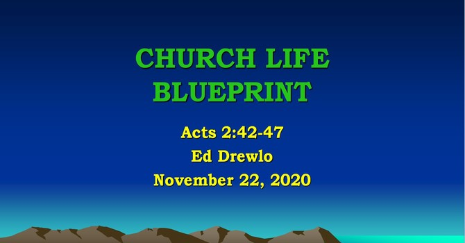 Church Life Blueprint