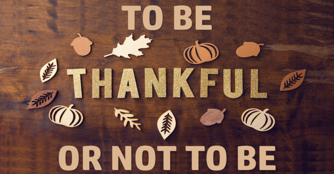 TO BE THANKFUL OR NOT TO BE