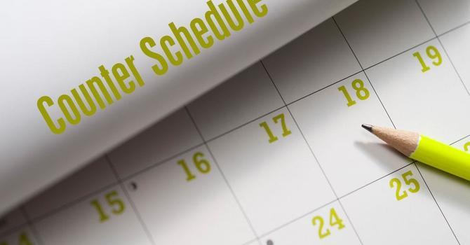 October Counters Schedule image