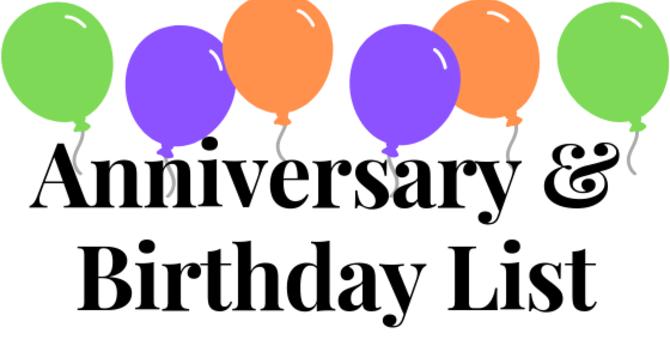 Birthday & Anniversary List image