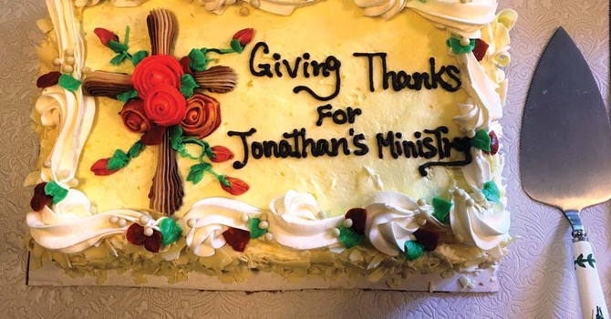 Giving Thanks for Jonathan's Ministry image