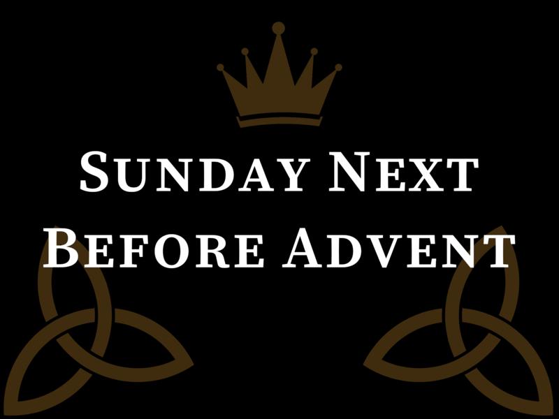 Sunday Next Before Advent