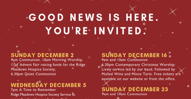Good News is Here - You're Invited image
