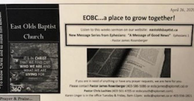 April 26, 2020 Church Bulletin image
