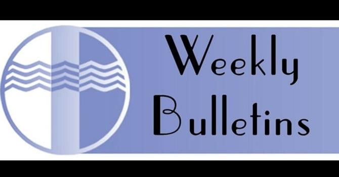 Weekly Bulletin | January 10, 2016 image