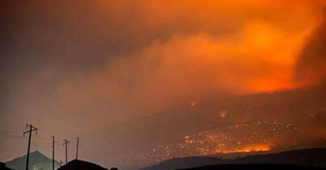 Prayer for those impacted by wildfires image