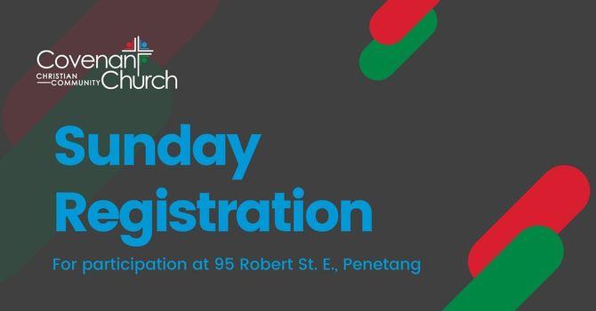 Sunday Service Registration - Dec. 6, 2020 image