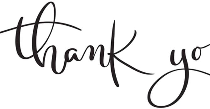 THANK YOU!! image