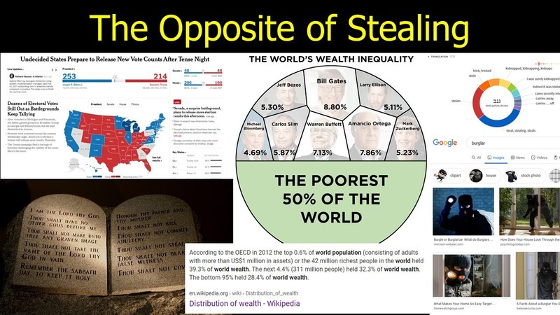 The Opposite of Stealing