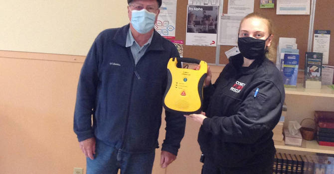 St. Peter's gets an AED! image