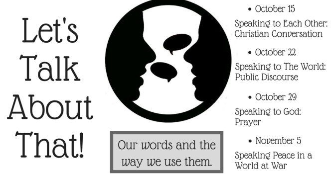Speaking to Each Other: Christian Conversation