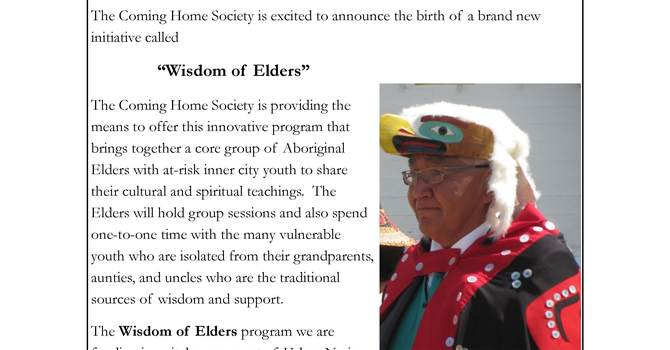 Coming Home Society December 2015 Newsletter image