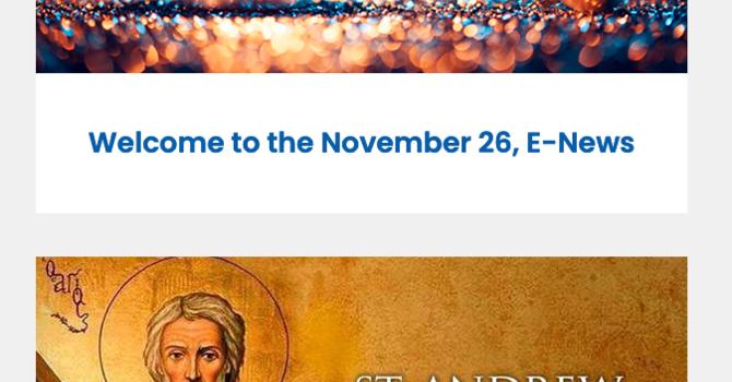 Link to November 26 E-News image