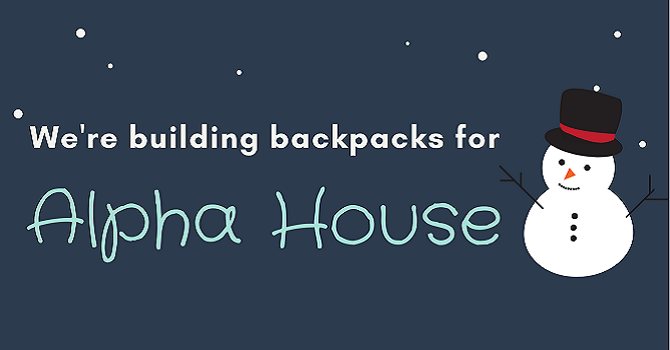 Building Backpacks for Alpha House image