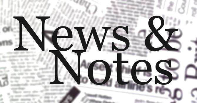 News & Notes Nov. 29th image