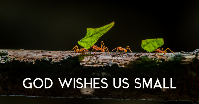 God Wishes Us Small