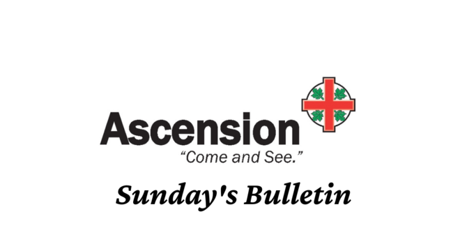 Bulletin for Sunday December 6th image
