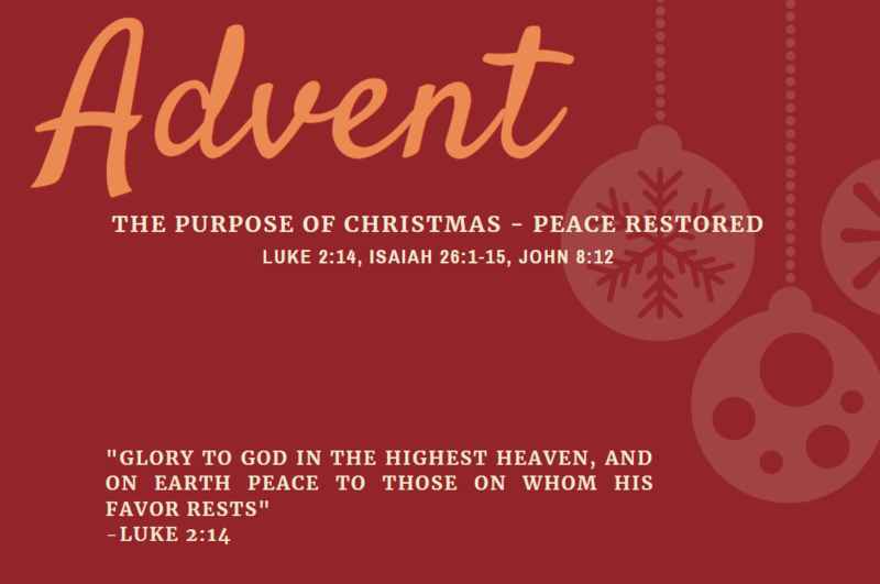 The Purpose of Christmas - Peace Restored