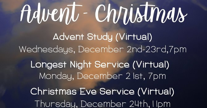Advent and Christmas at White Oak Pond
