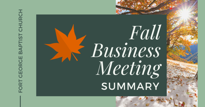 Fall Business Meeting Summary image
