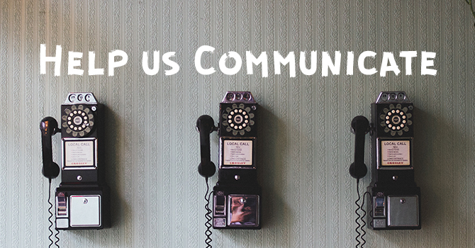 Help us Communicate image