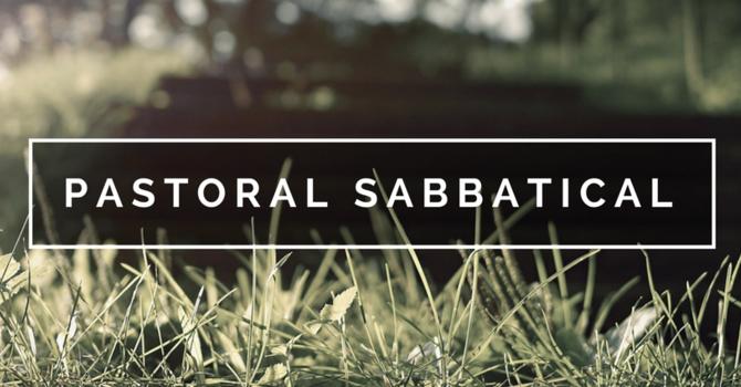 Lead Pastor Sabbatical image