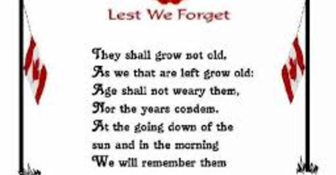 Remembrance Day Sunday image