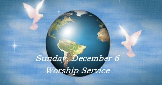 Sunday, December 6 Worship Service image