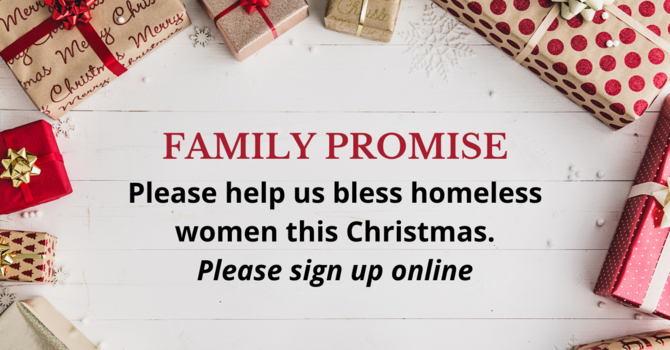 Family Promise Gift Drive
