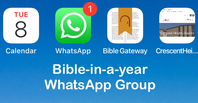 Bible-in-a-year WhatsApp Group image