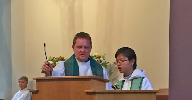 Guest Preacher from the Philippines visits St. Laurence