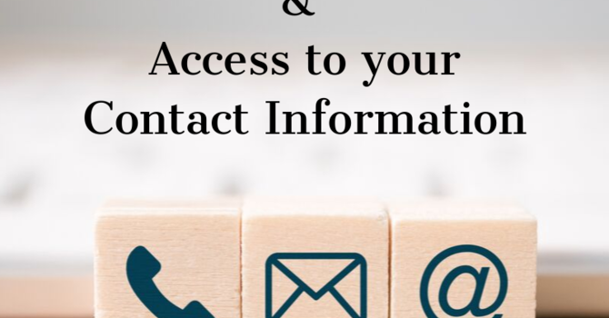 Updating Contact Information image