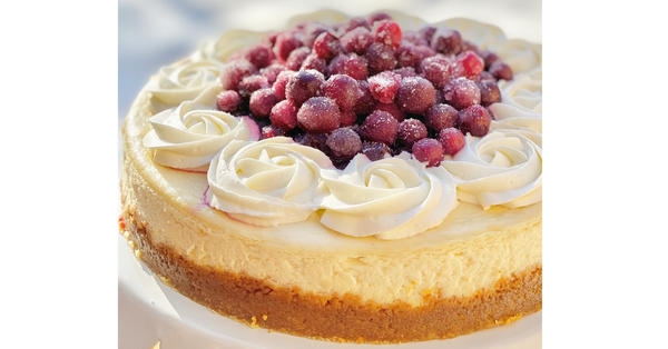 Christmas Cranberry Cheesecake!