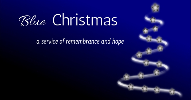 Blue Christmas services online image