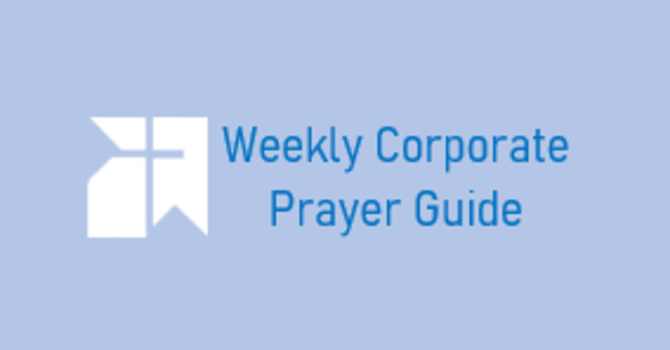 Corporate Prayers for June 14th image