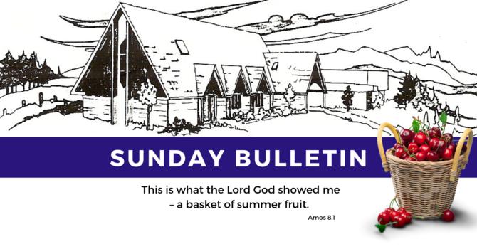 Bulletin - Sunday, July 21,  2019 image