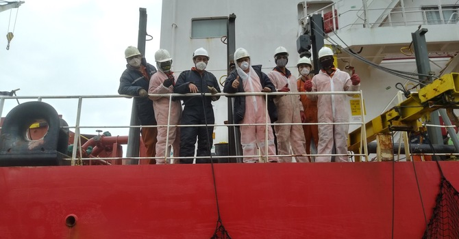 Seafarers remain onboard image