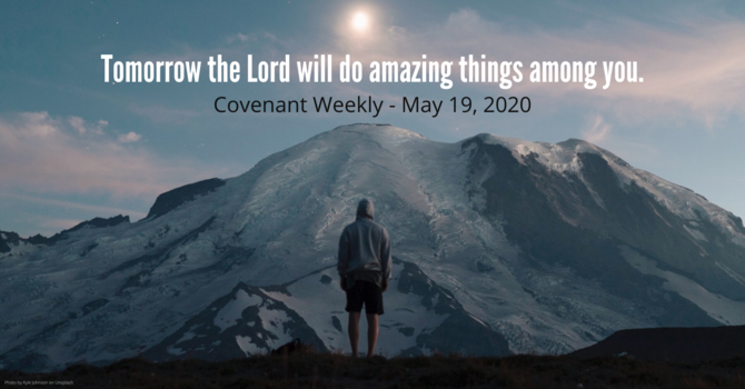 Tomorrow the Lord will do amazing things among you. image