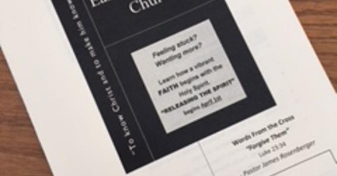 March 11, 2018 Church Bulletin image