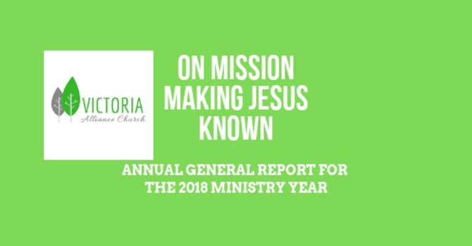 Annual Report for the 2018 Ministry Year image