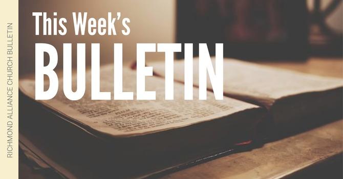 Bulletin — May 12, 2019 image