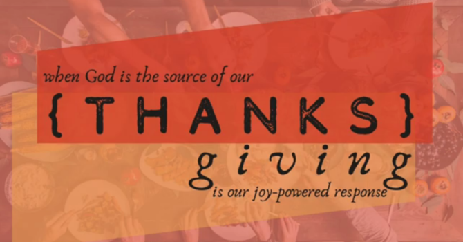 {THANKS} giving is... Surrender