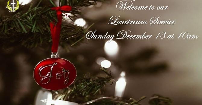 Sunday December 13 Livestream Service