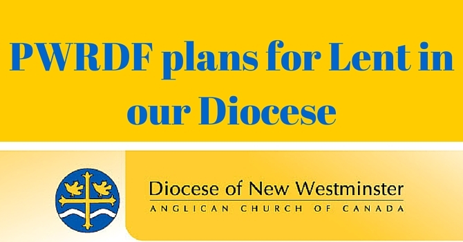 PWRDF Diocesan ideas during Lent image