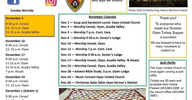 November Announcements image