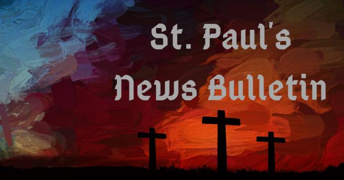 St. Paul's March 31st News Bulletin image