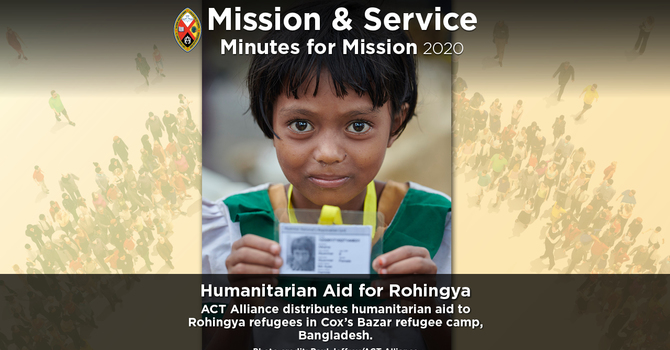 Minute for Mission: Humanitarian Aid for Rohingya image