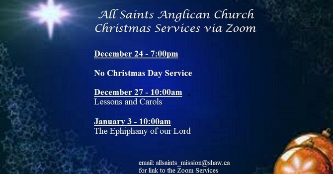 Christmas Services via Zoom image
