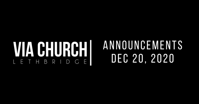 Announcements - Dec 20, 2020 image